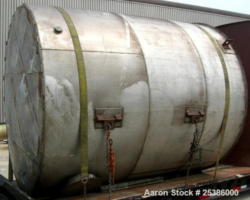 "Used- Tank, Approximate 6950 Gallon, 304 Stainless Steel, Vertical. Approximate 120"" diameter x 142"" straight side, flat wel..."