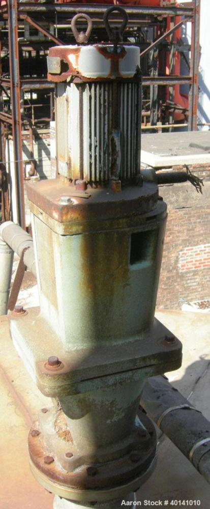 Used: Tank, approximately 12,000 gallon, stainless steel, vertical top mounted Lightnin agitator. (Service tank CP46, ammoni...