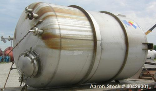 "Used- Northland Stainless pressure tank, 6500 gallon, 316 stainless steel, vertical. 107 3/8"" diameter x 13' straight side, ..."