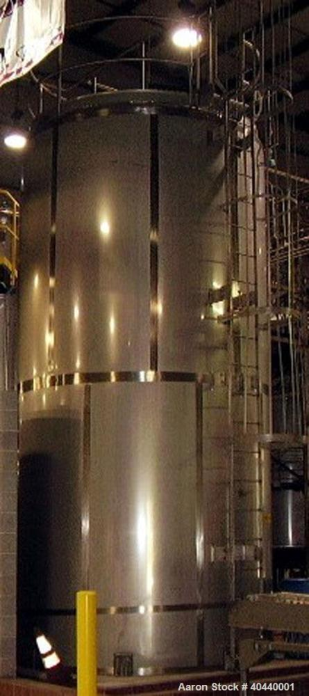 "Unused-Feldmeier Silo Storage Tank, 10,000 Gallon, Model SVS. 304 stainless steel, 120"" inside diameter x 21'7"" straight sid..."