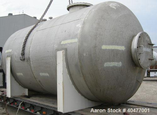 Used- Applied Engineering Pressure Tank, 8,100 gallon, 304L stainless steel, horizontal. 9' diameter x 14'2'' long, 2 to 1 e...