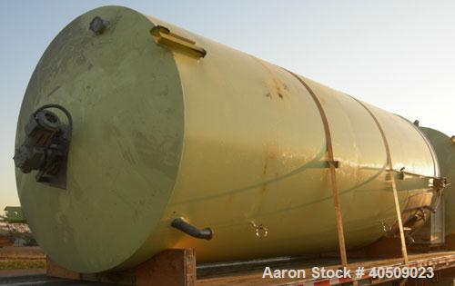 "Used- Cherry Burrell Silo Tank, 5,000 Gallon, Model SVW, 304 stainless steel, vertical. 84"" diameter x 213"" straight side, d..."
