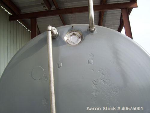 Used- Mueller Tank, 5000 gallon, model SH, 304L stainless steel, horizontal. Carbon steel exterior sheathing, and insulated ...