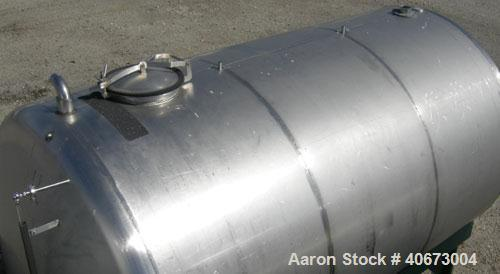 """Used- L'Hoir Incorporated tank, 4803 gallons (4000 Imperial), 304 stainless steel, horizontal. Approximately 94 1/2"""" diamete..."""