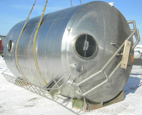 "Used- Cherry Burrell Jacketed Mix Tank, 7,200 Gallon, 304 Stainless Steel, Vertical.  120"" diameter x 160"" straight side, di..."
