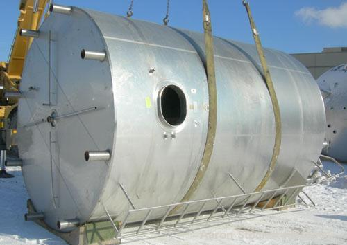 """Used- Cherry Burrell Jacketed Mix Tank, 7,200 Gallon, 304 Stainless Steel, Vertical.  120"""" diameter x 160"""" straight side, di..."""