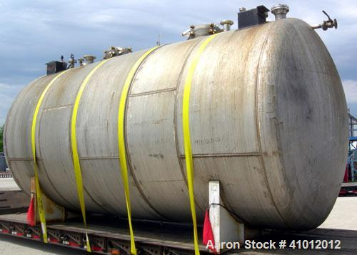 Used- Clawson Tank Company 2 Compartment Pressure Tank, 12,000 gallons total, 6,000 gallons per compartment, 304L stainless ...
