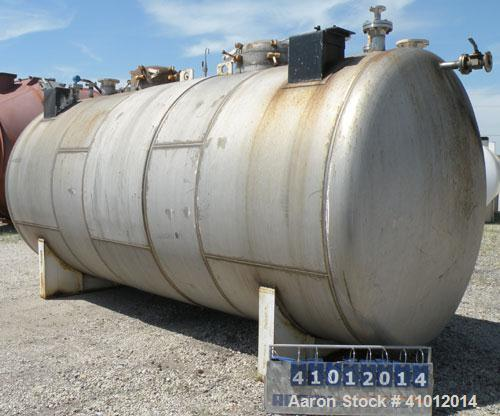 Used- Clawson Tank Company 2 Compartment Pressure Tank, 6,000 gallons, 3,000 gallons per compartment, 304L stainless steel, ...