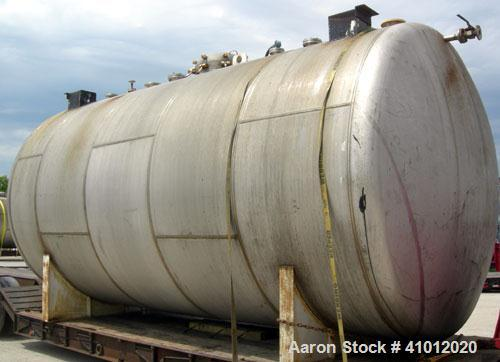 "Used- Clawson Tank Company Pressure Tank, 12,000 gallons, 304L stainless steel, horizontal.  125-1/2"" diameter x 222"" straig..."