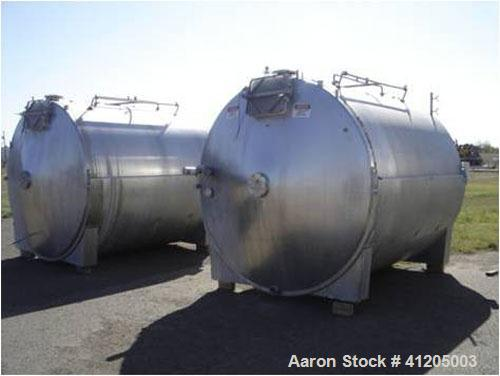Used- Tetra-Pak Closed Tetra Tebel Curd-Making Vat, 5020 Gallon (19,000 liter), model OST, stainless steel, horizontal. Desi...