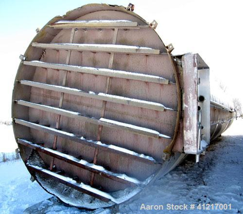 "Used- Mueller Tank Silo, 70,000 Gallon, Stainless Steel. 12'7"" Diameter x 70' OAL. 150 psi jacket."