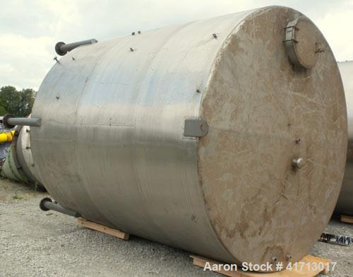 "Used- Filpaco Industries Tank, Approximate 6,000 Gallon, 304 Stainless Steel, Vertical.  Approximate 114"" diameter x 132"" st..."