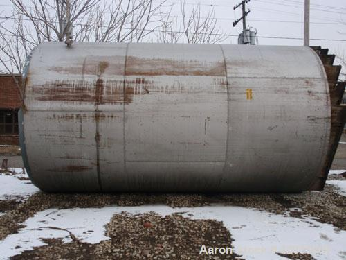 "Used- Tank, Approximate 17,000 Gallon, 316 Stainless Steel, Vertical. Approximate 144"" diameter x 242"" straight side, coned ..."