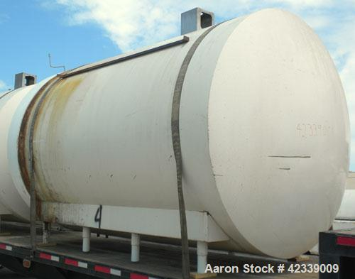 """Used- Cherry-Burrell Cold Wall Tank, 5000 Gallon, Model E, 304 Stainless Steel, Horizontal. 96"""" Diameter x 144"""" straight sid..."""