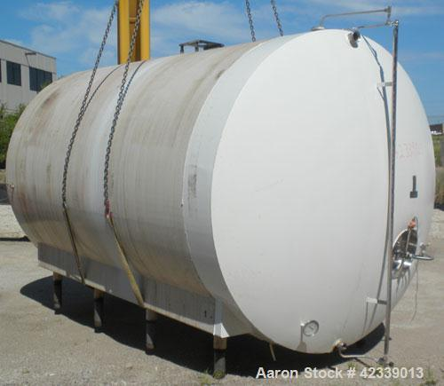 "Used- Cherry-Burrell Cold Wall Tank, 5000 Gallon, Model E, 304 Stainless Steel, Horizontal. 96"" Diameter x 144"" straight sid..."