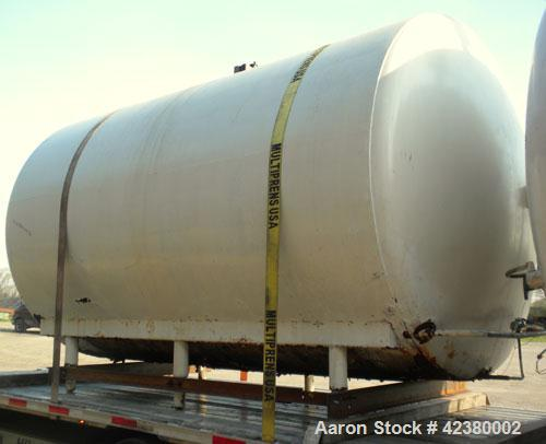 "Used- St. Regis Tank, Approximately 5000 Gallon, 304 stainless steel, horizontal. 96"" Diameter x 150"" straight side, dished ..."
