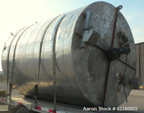 "Used- Henders Boiler and Tank Company Tank, approximately 5700 gallons, 304 stainless steel, vertical. Approximately 108"" di..."