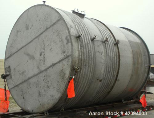 "Used- Wolfe Mechanical and Equipment Tank, 14,000 gallon, 304L stainless steel, vertical. Approximately 144"" diameter x 192""..."