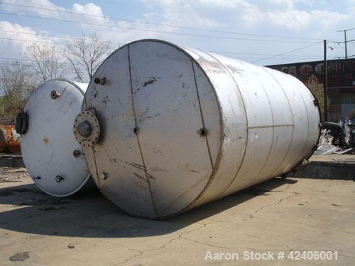 Used- Henders Boiler and Tank Storage Tank, approximately 11,175 gallon, 304 stainless steel, vertical. Approximately 120'' ...
