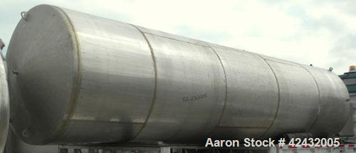 "Used- Tank, Approximately 5,000 Gallon / 19,220 Liter, 304 Stainless Steel, Vertical. 72"" Diameter x 288"" straight side, dis..."