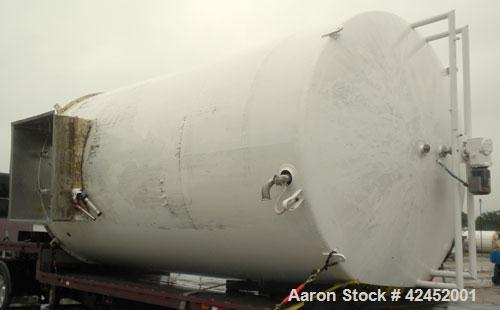 "Used- Mueller Silo Storage Tank, 10,000 Gallon, 304 Stainless Steel, Vertical. Approximately 120"" diameter x 222"" straight s..."