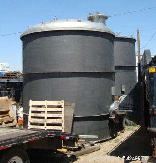 "Unused- Precision Stainless Storage Tank, 6160 gallon, 304L stainless steel, vertical. 120"" Diameter x 126"" straight side. D..."