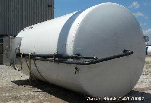 "Used- DCI Silo Storage Tank, 44,000 Liter, 11,627 Gallon, 1,553 Cubic Feet, 304 Stainless Steel, Vertical. 120"" Diameter x 2..."