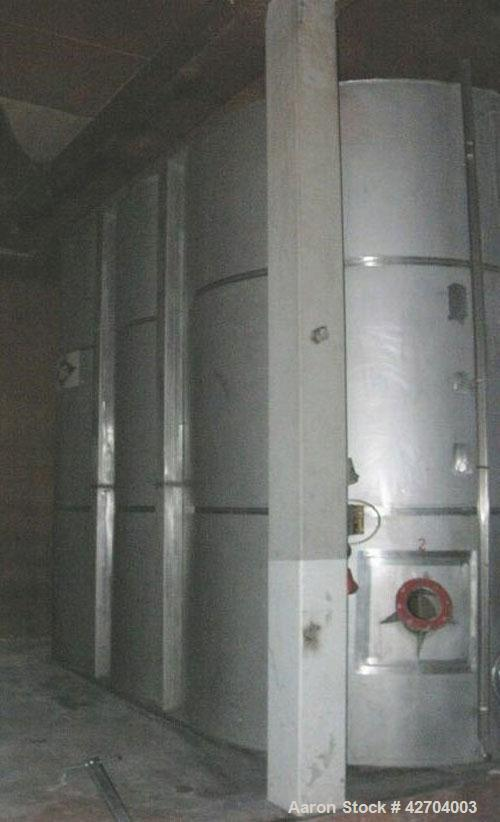 Used-Cubical Tank, Stainless Steel 316Ti (1.4571),  26,425 Gallons (100,000 Liters), split into two chambers at 13,212 gallo...