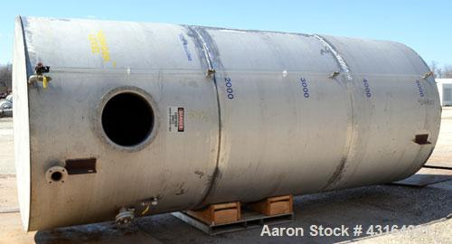 Used- Tank, 5,700 Gallon, 304 Stainless Steel, Vertical.  Approximately 90'' diameter x 210'' straight side.  Coned top, fla...