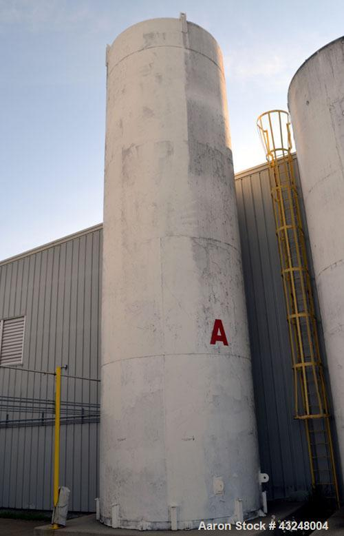 "Used- St. Regis Jacketed Silo, 4009 Cubic Feet (30,000 Gallon), Stainless Steel. Approximate 144"" Diameter x 36' tall. Dishe..."