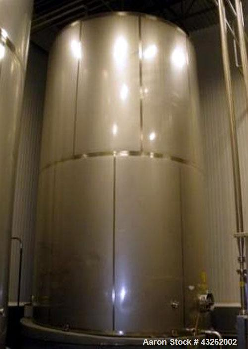 "Used-Mueller Sugar Tank / Silo  Model ""D"" - 27,000 Gallon Capacity, All  304 Stainless Steel.Non Jacketed Tank 168"" Diameter..."