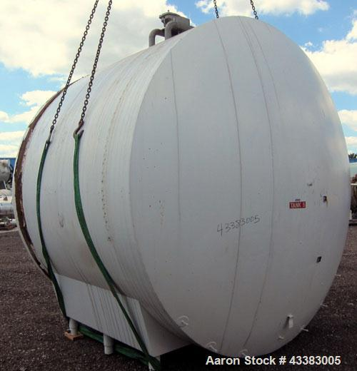 "Used- Cherry-Burrell Storage Tank, 5000 Gallon, 304 Stainless Steel, Horizontal. 120"" Diameter x 84"" straight side, dished h..."