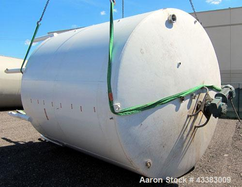 "Used- Mueller Tank, 5,000 Gallon, 304 Stainless Steel. Approximate 108"" Diameter x approximate 125"" straight side, dished to..."