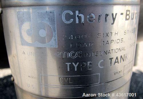 "Used- Cherry-Burrell Type C Tank, Model CVL, 10,000 Gallons, 304 Stainless Steel, Vertical. Approximately 136"" diameter x 14..."