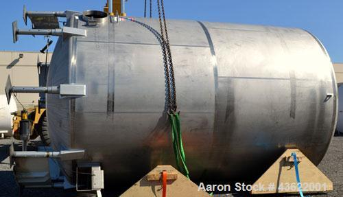 "Used- Cherry-Burrell Type C Tank, 10,000 Gallon, 304 Stainless Steel, Vertical. 126"" Diameter x 172"" straight side, dished t..."