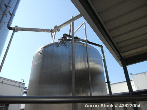 "Used-Crepaco Approximately 4750 Gallon Stainless Steel Tank. Approximately 106"" diameter x 9'6"" straight side. Dished heads...."