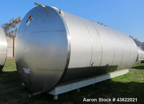 "Used- Santa Rosa Approximately 17,000 Gallon Stainless Steel Horizontal Storage Tank. Approximately 10'6"" diameter x 25' str..."