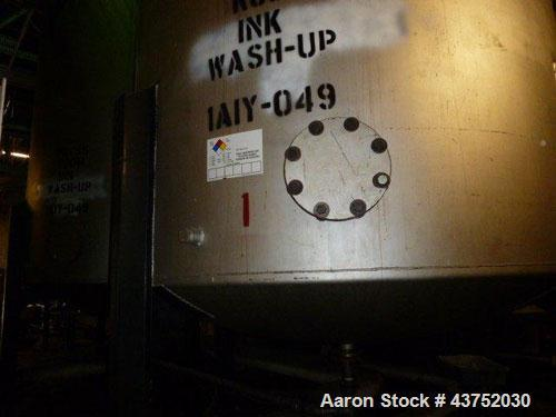 "Used- Tank, Approximately 7000 Gallon, Stainless Steel. Approximately 102"" Diameter x 192"" straight side. Dished top and bot..."