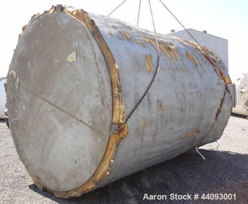 "Used- Stainless Metals Inc Tank, 8800 Gallon, 304L Stainless Steel, Vertical. Approximate 120"" diameter x 180"" straight side..."