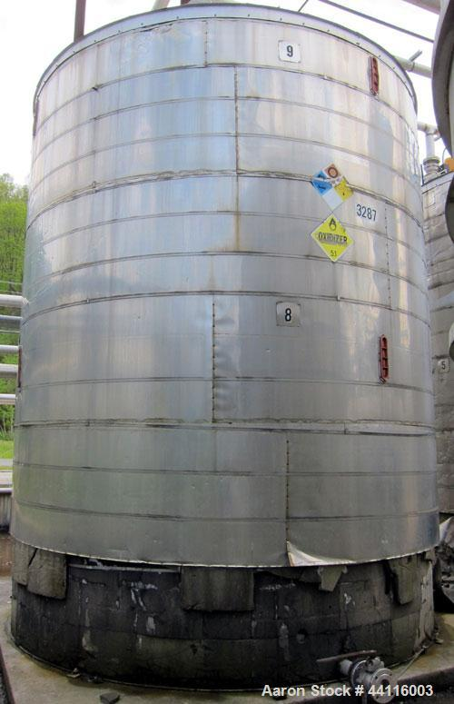 Used-Apache, Tank, approximately 12,700 gallon, 304 stainless steel, approximatey 12' diameter x 15' high, vertical.  Flat t...