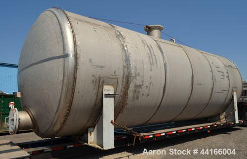 "Used- Modern Welding Pressure Tank, 25,000 Gallons, 304L Stainless Steel, Horizontal. 138"" Diameter x 360"" straight side, AS..."