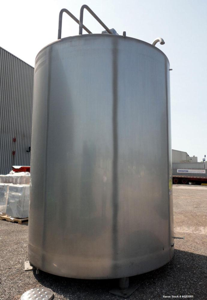 "Used- Mueller Storage Tank, 6,000 Gallon, Model D, 304 Stainless Steel, Vertical. 112"" Diameter x approximate 135"" straight ..."