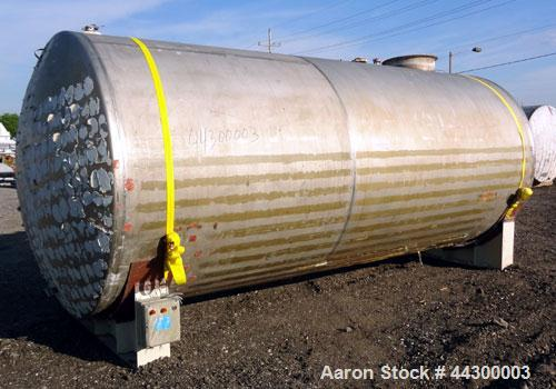 "Used- Hamilton Welding Company Tank, 5,200 Gallon, 304 Stainless Steel, Horizontal. Approximately 84"" diameter x 202"" straig..."