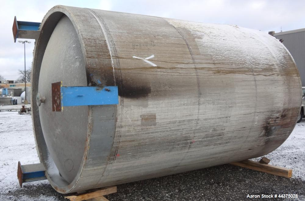 "Used- Imperial Steel Pressure Tank, 6500 Gallon, 316 Stainless Steel, Vertical. Approximate 108"" diameter x 144"" straight si..."