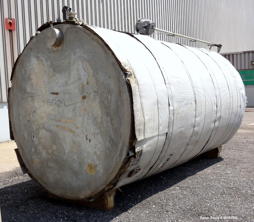 "Used- Tank, 5200 Gallon, 304 Stainless Steel, Vertical. Approximately 96"" diameter x 170"" straight side, flat top and bottom..."