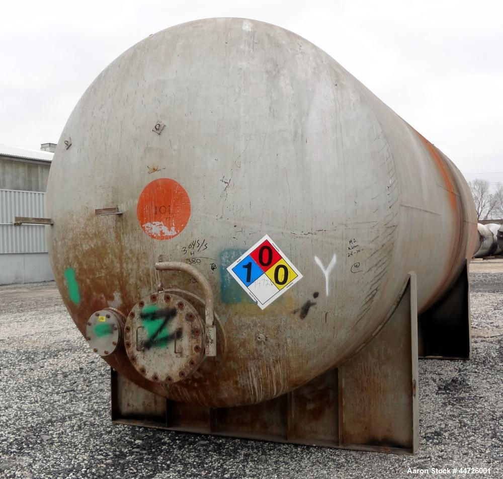 Used- 13,000 Gallon Stainless Steel Superior Welding Pressure Tank, Model 2 HTA-3
