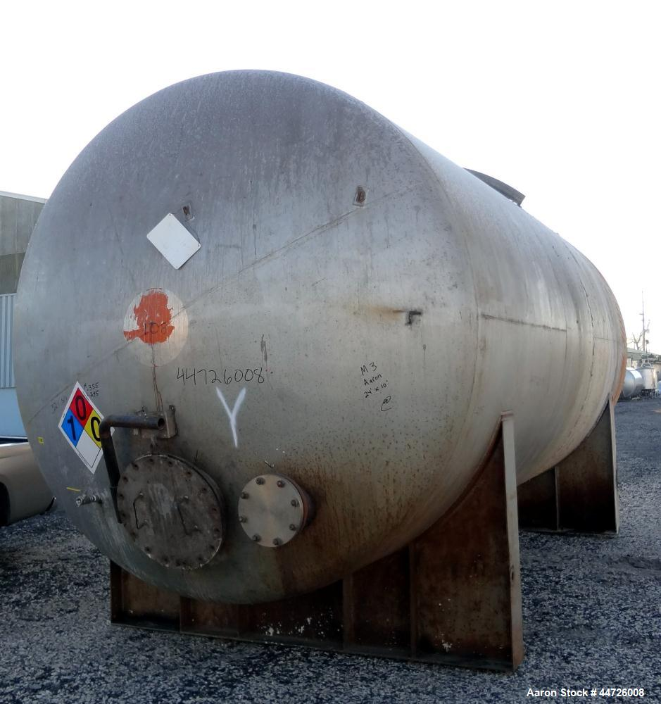 Used- 13,000 Gallon Stainless Steel Tank, Model 2 HTA-3