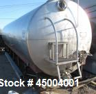 Used- 10,000 Gallon Stainless Steel Dairy Craft Inc Tank