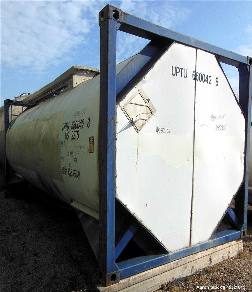 Used- 6600 Gallon Stainless Steel Single Compartment Insulated ISO Tank Container