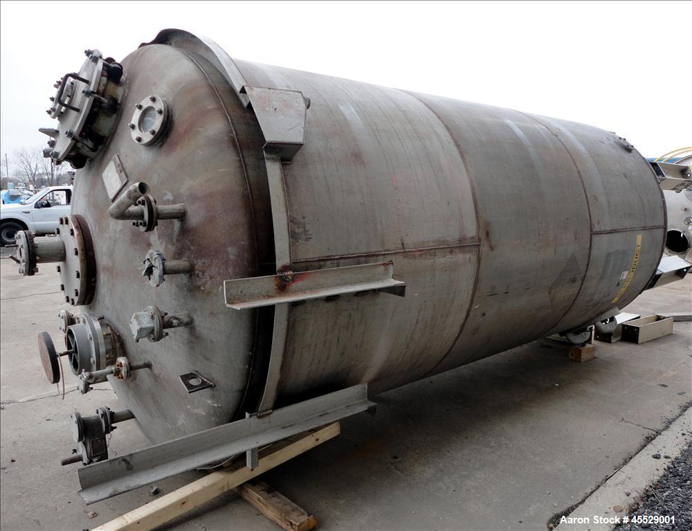 Used- 5,000 Gallon Stainless Steel Milwaukee Boiler Pressure Tank